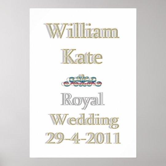 William and Kate Royal Wedding Print