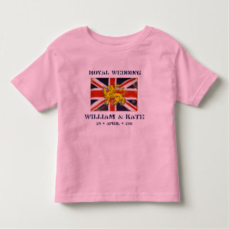 William and Kate Royal Wedding Toddler  T-Shirt