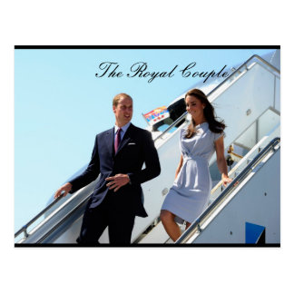 William and Kate USA Postcard