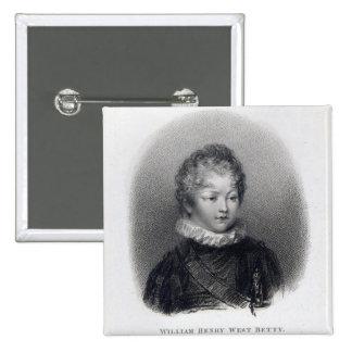 William Betty, 1805 Pinback Button