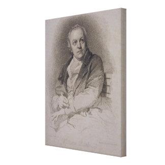 William Blake (1757-1827) engraved by Luigi Schiav Canvas Print