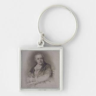 William Blake (1757-1827) engraved by Luigi Schiav Silver-Colored Square Keychain
