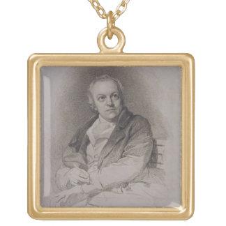 William Blake (1757-1827) engraved by Luigi Schiav Square Pendant Necklace