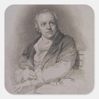 William Blake (1757-1827) engraved by Luigi Schiav Square Sticker