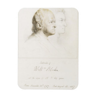 William Blake (1757-1827) in Youth and Age (graphi Rectangular Photo Magnet