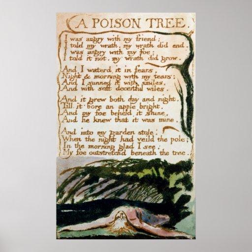 William Blake | A Poison Tree Poster