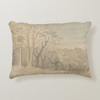 William Blake - A Woody Landscape Decorative Pillow
