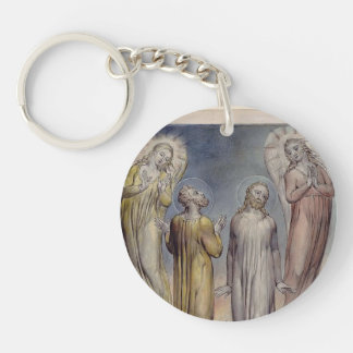 William Blake-Andrew, Simon Peter Searching Christ Single-Sided Round Acrylic Keychain