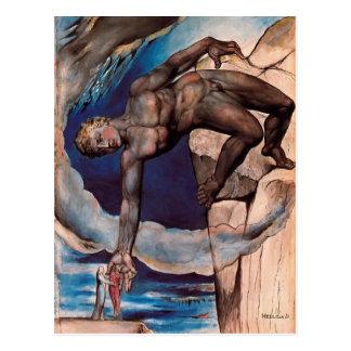 William Blake- Antaeus setting down Dante & Virgil Postcard
