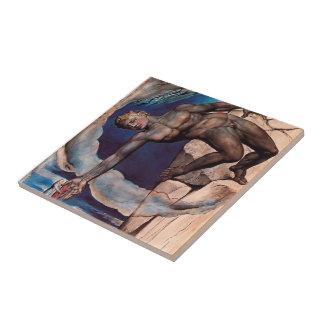 William Blake- Antaeus setting down Dante & Virgil Ceramic Tiles