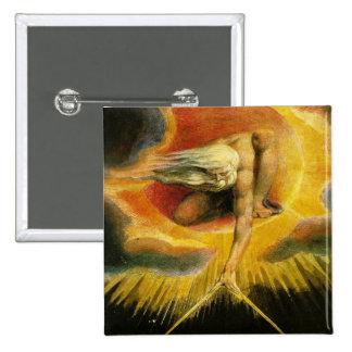 William Blake Art God Pinback Button