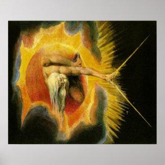 William Blake Art God Poster