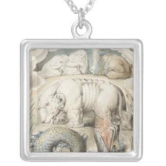William Blake Art Painting Square Pendant Necklace