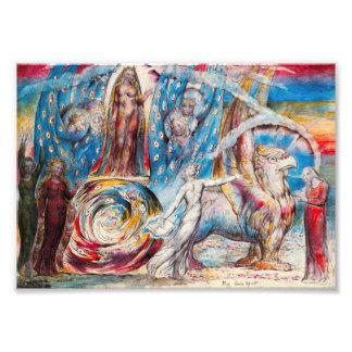 William Blake Beatrice Print Photo Art
