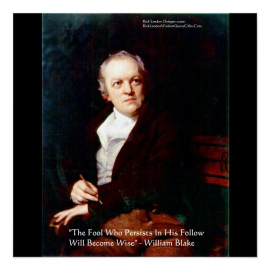 """William Blake """"Become Wise"""" Wisdom Posters"""
