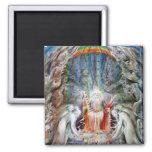 William Blake: Before the Divine Throne Refrigerator Magnet