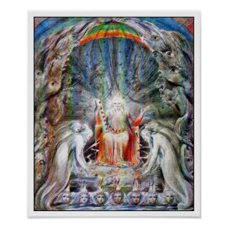 William Blake: Before the Divine Throne Posters