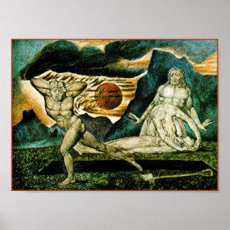 William Blake:  Body of Abel Found by Adam & Eve Poster
