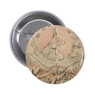 William Blake: Casting of Rebel Angels to Hell Pinback Buttons