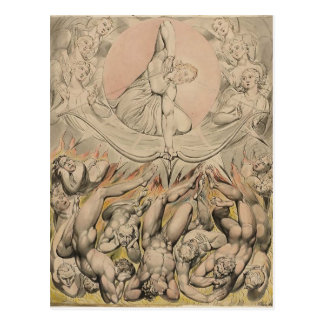 William Blake: Casting of Rebel Angels to Hell Postcard