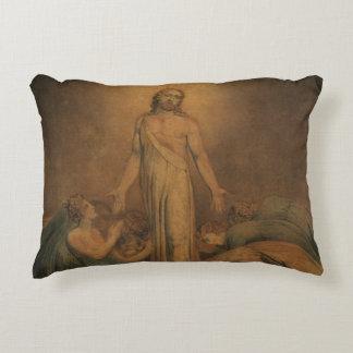William Blake - Christ Appearing to the Apostles Decorative Pillow
