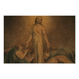William Blake - Christ Appearing to the Apostles Poster