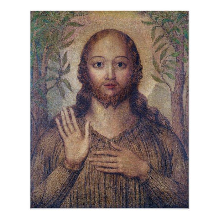 William Blake Christ blessing The saviour CC0066 Poster