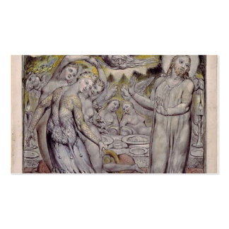 William Blake-Christ refusing the banquet by Satan Business Card Templates