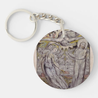 William Blake-Christ refusing the banquet by Satan Single-Sided Round Acrylic Keychain