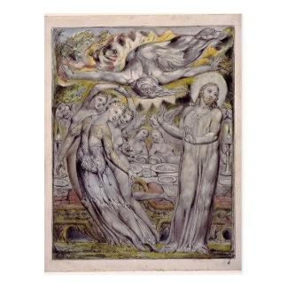 William Blake-Christ refusing the banquet by Satan Postcard