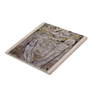 William Blake-Christ refusing the banquet by Satan Ceramic Tile