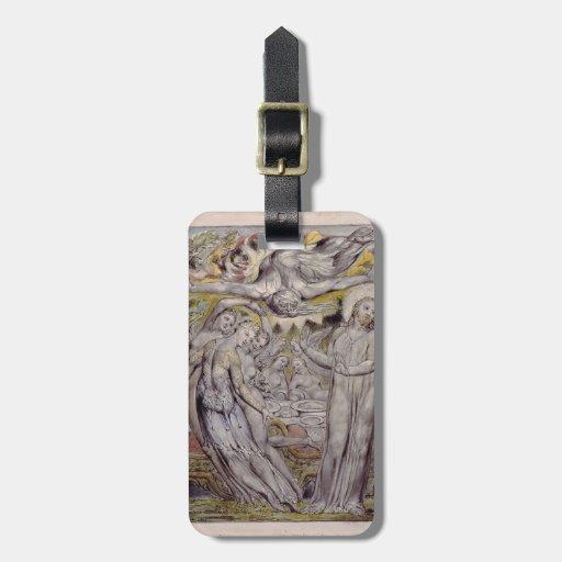 William Blake-Christ refusing the banquet by Satan Travel Bag Tags