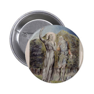 William Blake- Christ Tempted by Satan Pinback Buttons