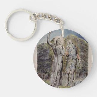 William Blake- Christ Tempted by Satan Single-Sided Round Acrylic Keychain