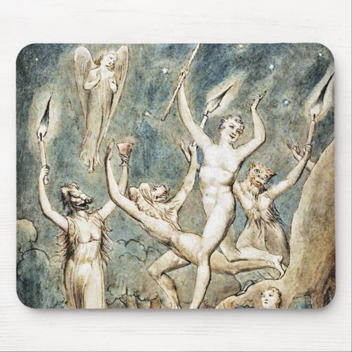 William Blake: Comus with His Revellers Mouse Pad