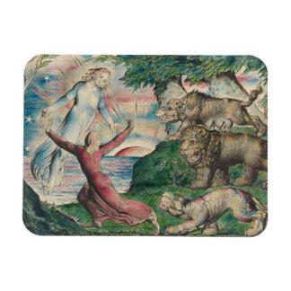 William Blake -Dante Running from the three Beasts Magnet