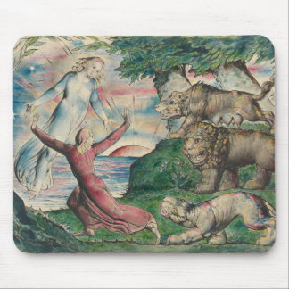 William Blake -Dante Running from the Three Beasts Mouse Pad
