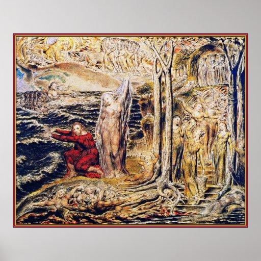 William Blake: De Antro Nympherum [Cave of Nymphs] Poster