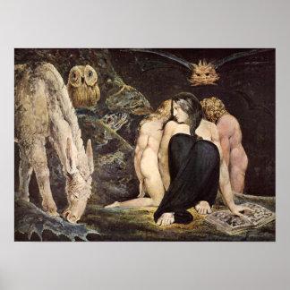 William Blake Hecate Poster