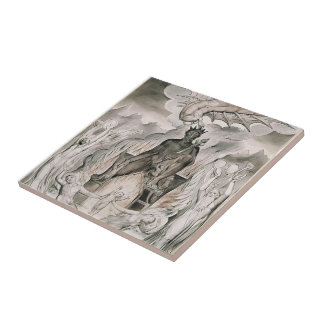 William Blake: Illustration Christ`s Nativity Ceramic Tiles