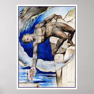 William Blake Illustration: Dante's Divine Comedy Poster