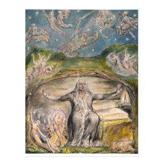 William Blake: Illustration to Milton`s L`Allegro Postcard