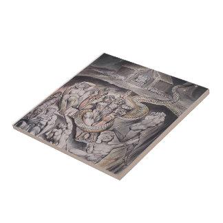 William Blake: Illustration to Milton`s Ceramic Tiles
