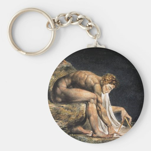 William Blake Isaac Newton Key Chain