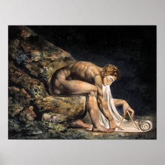 William Blake Isaac Newton Poster