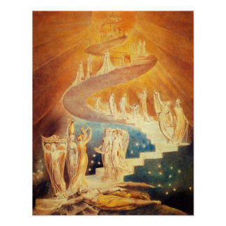 William Blake Jacob's Ladder Poster