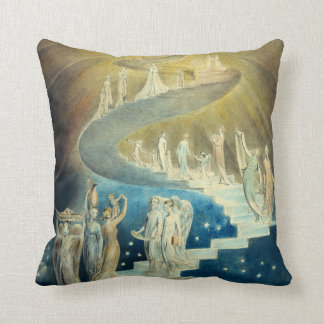 William Blake Jacob's Ladder Throw Pillow