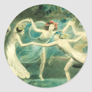 William Blake Midsummer Night's Dream Classic Round Sticker