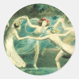 William Blake Midsummer Night's Dream Classic Round Sticker