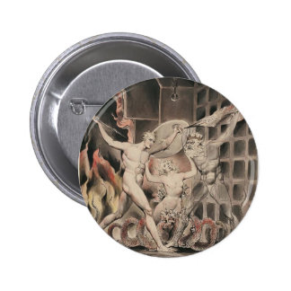 William Blake: Milton`s Paradise Lost Pinback Buttons